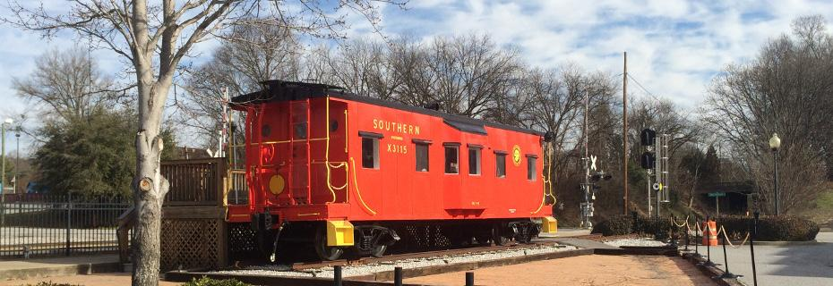Southern Railway Caboose X-3115 at Magnolia Street