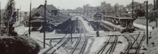 A vintage photo of the Depot in the 1920s