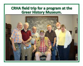 CRHA field trip for a program at the Greer History Museum