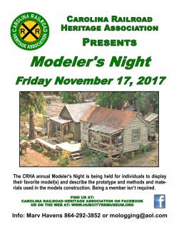 CRHA Display Board Modelers Night 2017